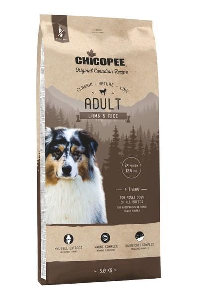 Chicopee CNL Adult Lamb and Rice (Чикопай Эдалт Лэмб енд Райс) - корм для собак всех пород 2 кг