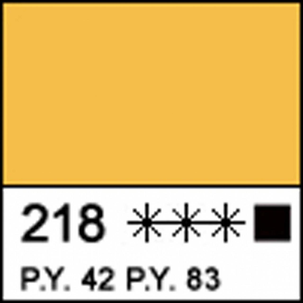 Краска акриловая МАСТЕР-КЛАСС, охра желтая акрил 46мл ЗХК