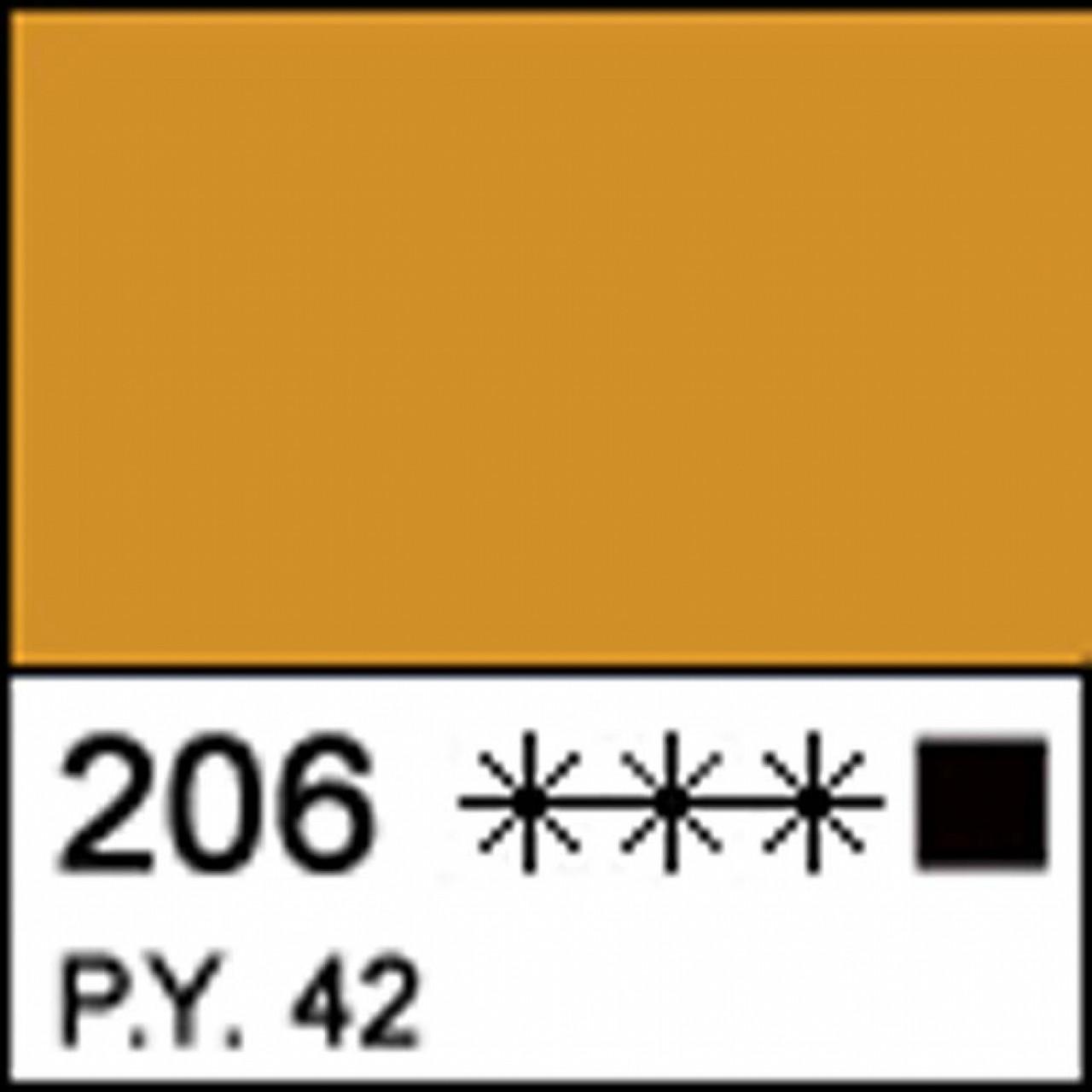 Краска акриловая МАСТЕР-КЛАСС, охра светлая акрил 46мл ЗХК