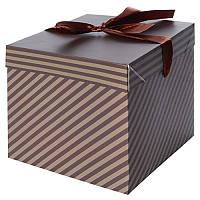 """Коробка подарочная бумажная """"Мужская"""" 22*22*22см N00382"""