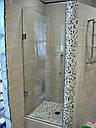 Стеклянная душевая дверь 600*2000 коричневая, фото 7