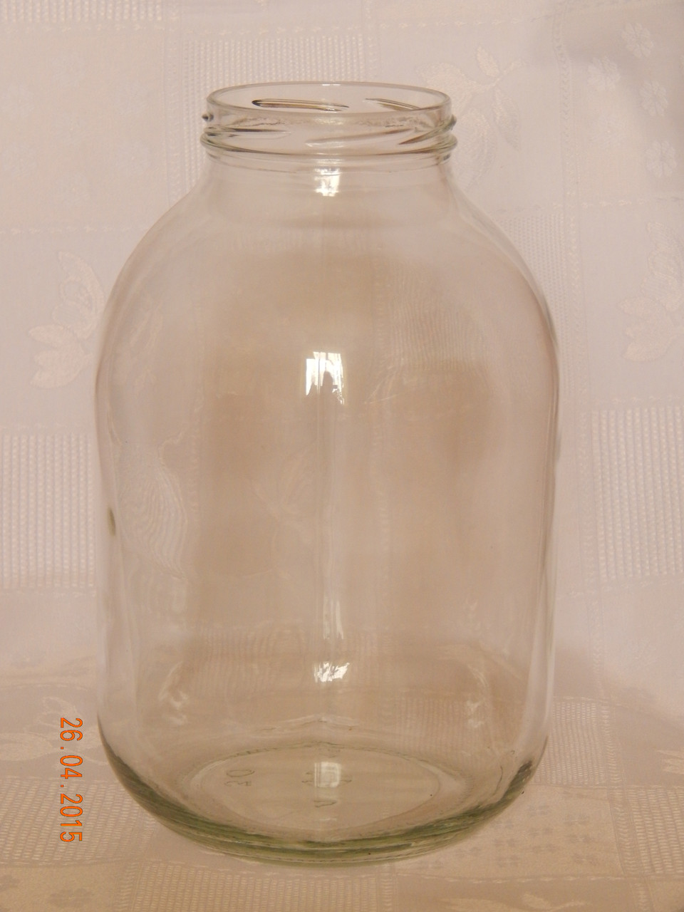 Банка стеклянная 3 л с горловиной твист 82 (6 штук в упаковке)