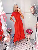 Платье женское стильное в пол БАТАЛ (50-54) 2П/АВ -4787