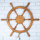 Штурвал деревянный на стену , фото 2