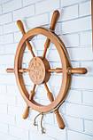 Штурвал деревянный на стену , фото 4