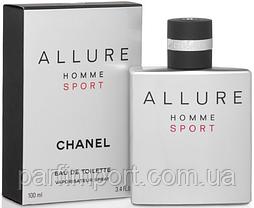 CHANEL ALLURE MEN SPORT EDT 100 ml  туалетная вода мужская (оригинал подлинник  Франция)