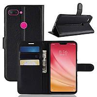 Чехол-книжка Litchie Wallet для Xiaomi Mi 8 Lite Черный