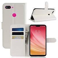 Чехол-книжка Litchie Wallet для Xiaomi Mi 8 Lite Белый