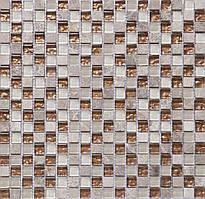 Мозаика мрамор стекло Vivacer CS06