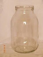Банка стеклянная 3 л с БОЛЬШОЙ горловиной твист 100 мм (6 штук в упаковке), фото 1