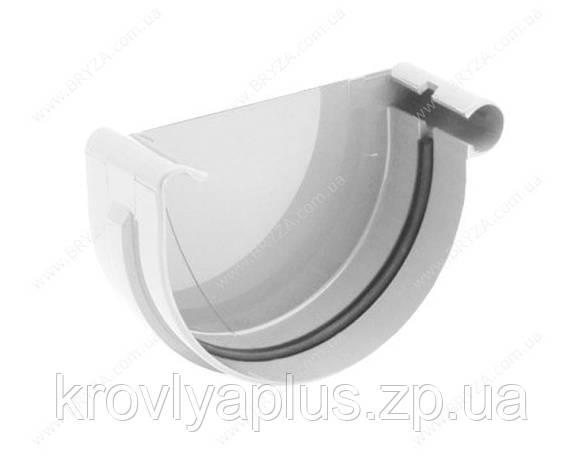 Водосточная система BRYZA 150 Заглушка желоба правая белый, фото 2