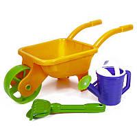 Детская тачка садовая с инвентарем Kinderway 01-124