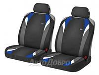 Чехлы майки на сиденье HR FORMULA FRONT черный/голубой