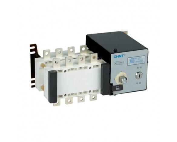 Реверсивный рубильник с электроприводом NH40-100/4SZ, 4Р, 100А (CHINT), фото 2