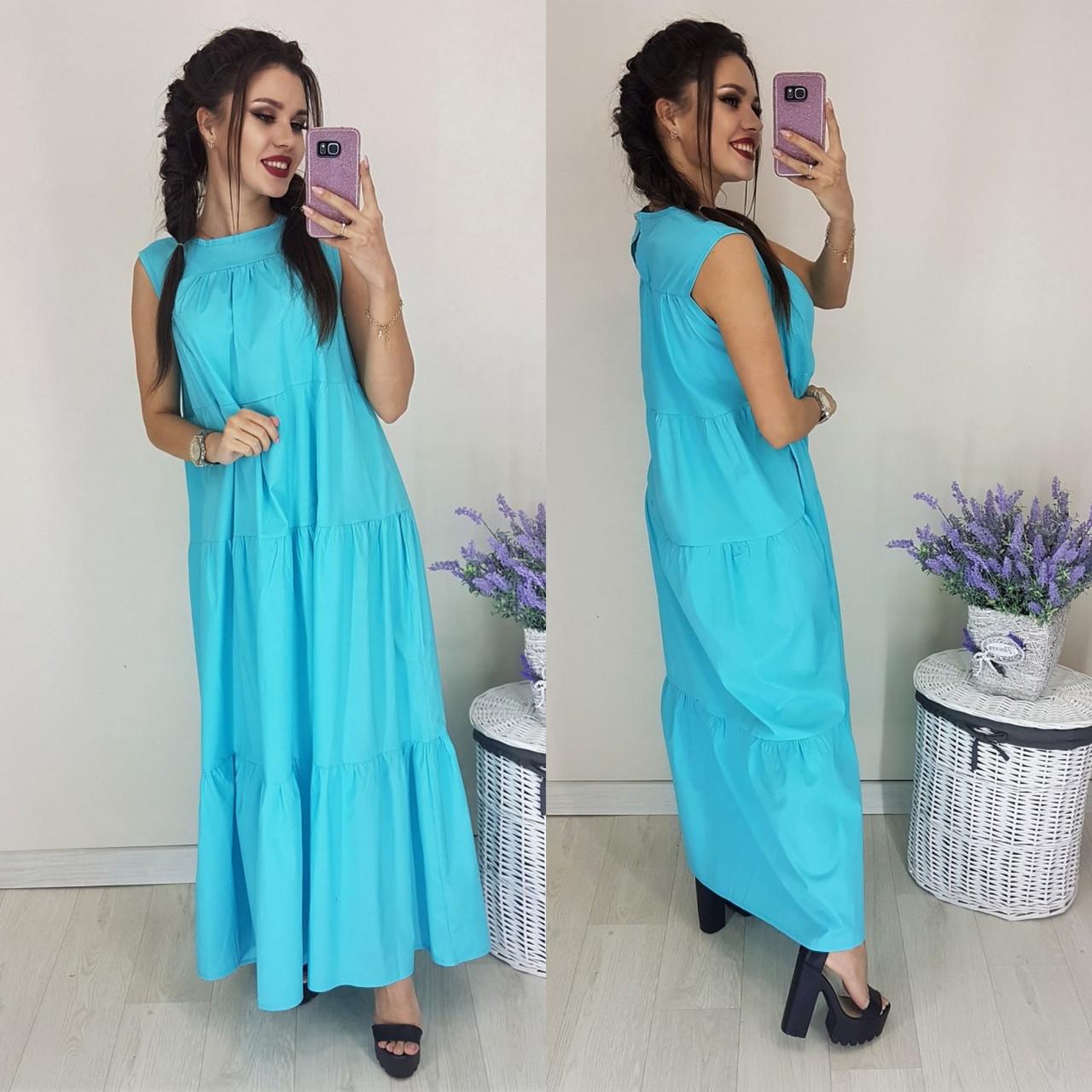 221b6fddf40 Коттоновое летнее платье макси - Интернет-магазин Лорея в Киеве