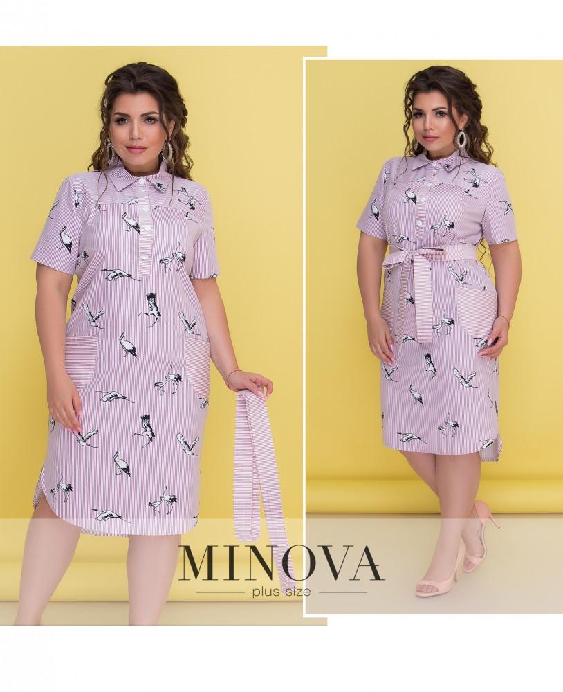 Сукня №300-рожевий розміри 52,54,56,58,60