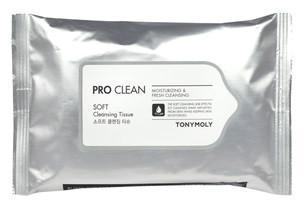 Очищающие салфетки для лица Tony Moly РRo Clean Soft Cleansing Tissue 15 шт
