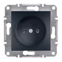 Розетка без заземляющего контакта Антрацит Schneider Asfora plus (EPH3000171), фото 1
