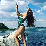 Женский Купальник слитный зеленый, фото 8