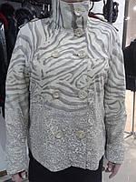 Куртка кожаная светлая (батал)