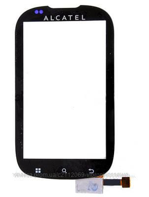 Тачскрин (сенсор) Alcatel V860, Vodafone smart II, МТС 962, black (чёрный), фото 2
