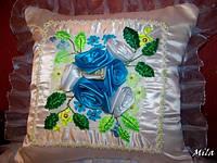"""Подушка """"Голубые розы"""""""