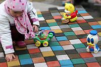 Плитка ТМ Золотой Мандарин - интересное решение для выкладки на детских площадках. Удобно, ярко и весело!