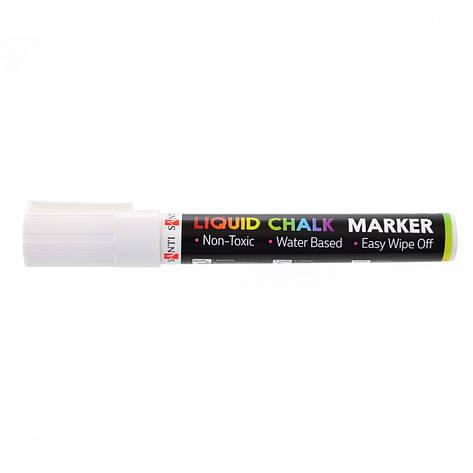 Меловой маркер SANTI, белый, 6 шт/уп. 5 мм., фото 2
