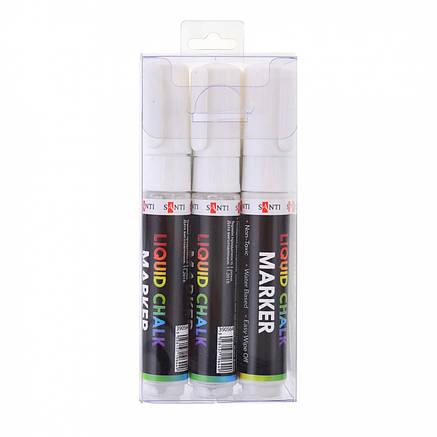 Меловой маркер SANTI, белый, 6 шт/уп. 8 мм., фото 2