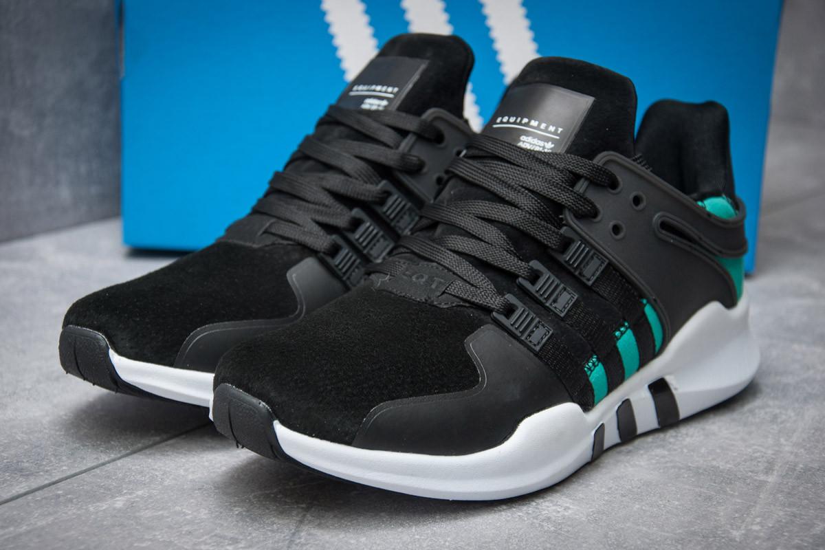 Кроссовки мужские  в стиле Adidas  EQT ADV/91-16, черные (11991) [  45 (последняя пара)  ]