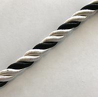 Шнур декоративный для натяжных потолков 10мм, 100м, белый + черный