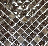 Мозаика мрамор стекло Vivacer DAF12
