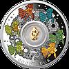 Щаслива 7 ~ Сім золотих рибок ~ Срібна монета з позолоченим елементом у футлярі