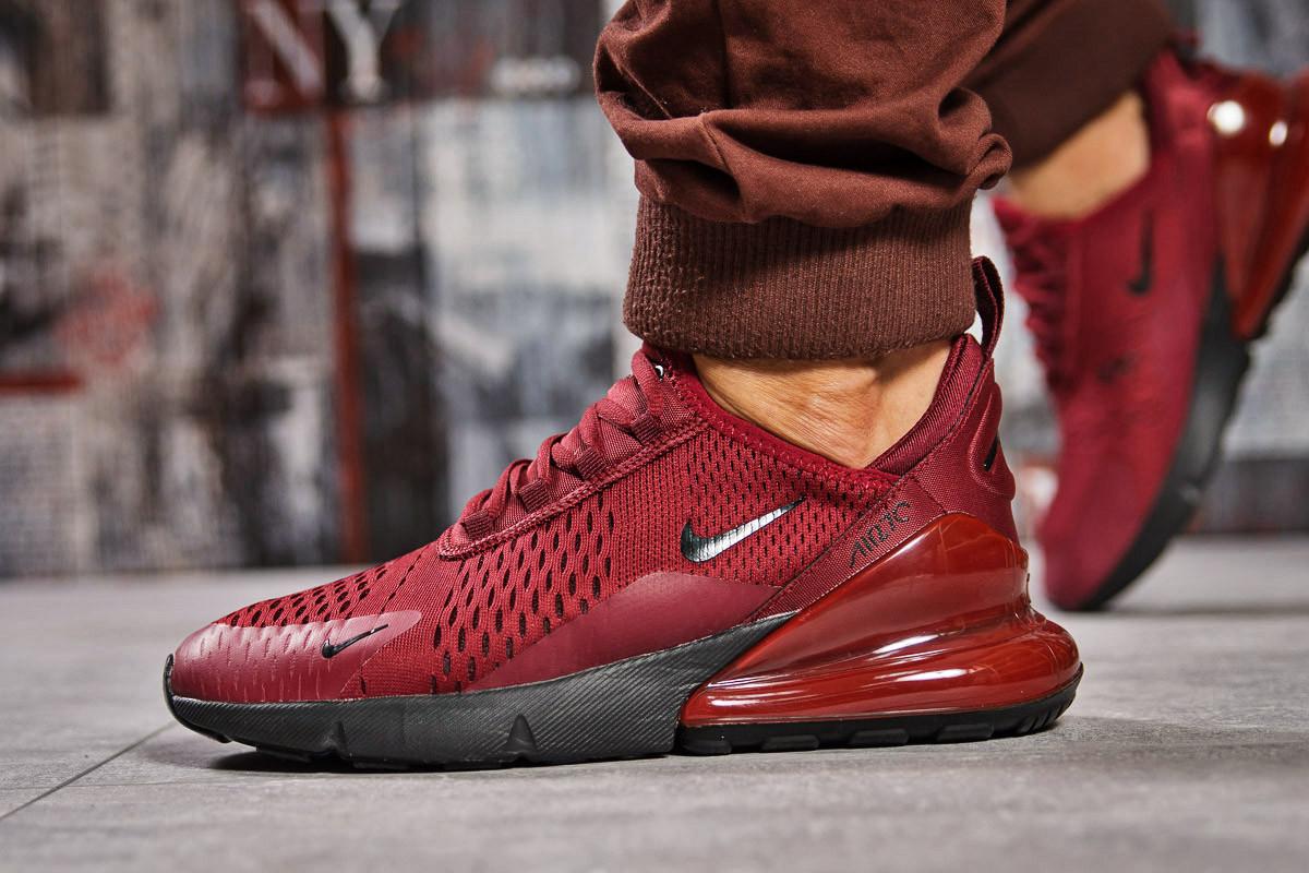 Кроссовки мужские  в стиле Nike Air 270, бордовые (15452) [  41 43  ]