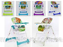 Детский стульчик для кормления JOY J Ремень безопасности, 4 положения наклона, 5 полож высоты