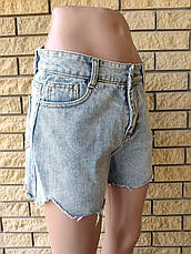 Шорты женские джинсовые коттоновые с высокой посадкой YASHI, фото 2