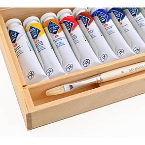 Набор масляных красок МАСТЕР КЛАСС 12цв., 18мл., с/к, дерево, фото 2