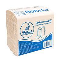Салфетка для настольного диспенсера Parus HORECA, L-сложение, 24*21см, 1-слойн, белая, 160 штук.