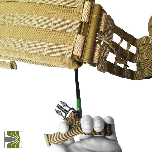 Система швидкого скидання у плитоносці М3 яка виконана без елементів сталевого тросу