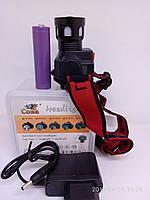 Налобный фонарь Gerrlite CB 0604-T6 сверхяркий на аккумуляторе типа 18650