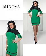 Зеленое платье большого размера №2005- 54 56 58