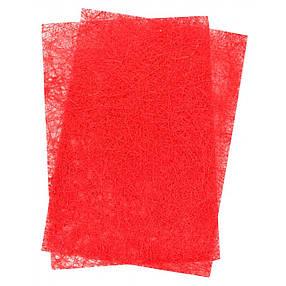 Набор сизали с глитером красного цвета, 20*30 см, 5 листов, фото 2