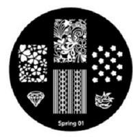 Диск для стемпинга серии Oshline Beauti Spring №01
