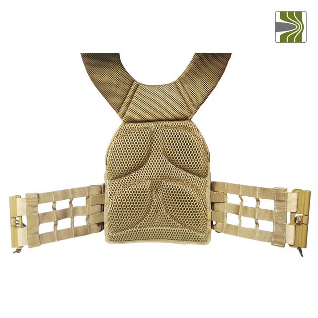 Внутрішня частина плитоноски  М3 з системою швидкого скидання, де розташований 5-мм демпфер та додаткові 10-мм демпферні подушки, які надійно знімають заперешкодну деформацію. Розташування демпферних подушок також забезпечує якісну вентиляцию,  додаткову вентиляцію та комфорт носіння  забезпечує крупна 3D сітка якою вільно циркулює повітря.