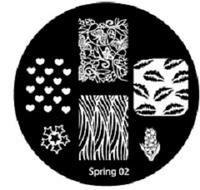 Диск для стемпинга серии Oshline Beauti Spring №02