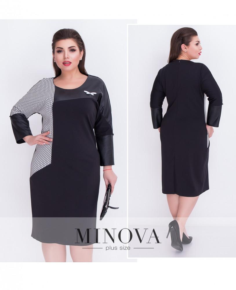 Платье №00035-черный Размеры 52,54,56,