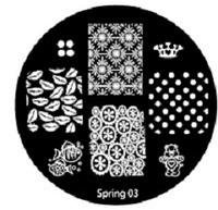 Диск для стемпинга серии Oshline Beauti Spring №03