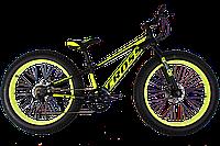 "Велосипед Cross Tank 24"" Black-Limeт (широкие колеса)"