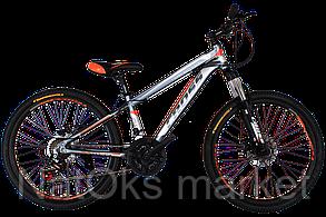 Велосипед Cross Hunter 24 Gray-Orange