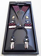 Мужские подтяжки Paolo Udini красно-черные, фото 1